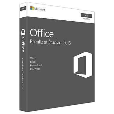 Microsoft Office Home & Student 2016 for Mac, 1 Mac, French