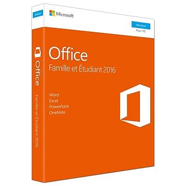 Microsoft – Office Famille et Étudiant 2016, 1 PC, français