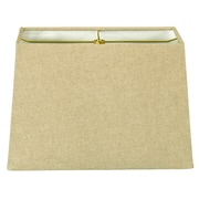 RoyalDesigns Timeless 10'' Linen Rectangular Lamp Shade; Linen Cream