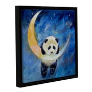 ArtWall Panda Stars by Michael Creese Framed Painting Print on Wrapped Canvas; 36'' H x 36'' W