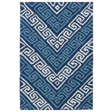 Kaleen Matira Blue Indoor/Outdoor Rug; 2' x 3'