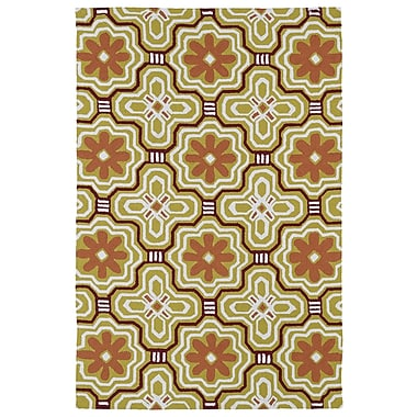 Kaleen Matira Gold Indoor/Outdoor Rug; 3' x 5'