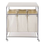 Nova Furniture Triple Sorter Laundry Cart Hamper w/ Ironing Board
