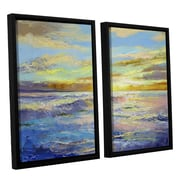 ArtWall Florida Sunrise by Michael Creese 2 Piece Framed Painting Print Set; 24'' H x 32'' W x 2'' D