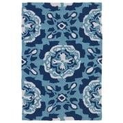 Kaleen Matira Hand-Tufted Blue Indoor/Outdoor Rug; 2' x 3'