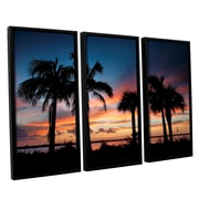 ArtWall Tropical Sunset Ii by Steve Ainsworth 3 Piece Framed Photographic Print Set