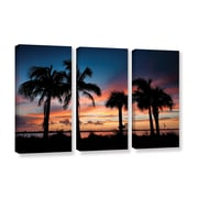 ArtWall Tropical Sunset Ii by Steve Ainsworth 3 Piece Photographic Print on Wrapped Canvas Set