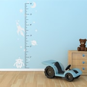 The Decal Guru Space Robot Growth Chart Wall Decal; White