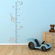 The Decal Guru Space Robot Growth Chart Wall Decal; Silver