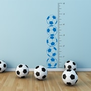 The Decal Guru Soccer Growth Chart Wall Decal; Azure Blue