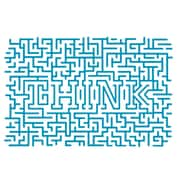 The Decal Guru Think Maze Wall Decal; Teal