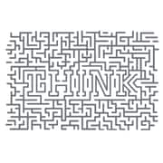 The Decal Guru Think Maze Wall Decal; Storm Gray
