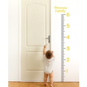 The Decal Guru Giant Ruler Growth Chart Wall Decal; Light Yellow