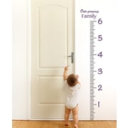 The Decal Guru Giant Ruler Growth Chart Wall Decal; Violet