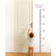 The Decal Guru Giant Ruler Growth Chart Wall Decal; Lilac