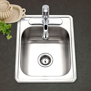 Houzer Hospitality 22'' x 17'' Topmount 22 Gauge Large Bar Sink