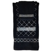 Sparkles Home 3 Piece Rhinestone Guest Towel Set; Black