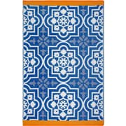 Fab Rugs Estate Blue Indoor/Outdoor Area Rug; 6' x 9'