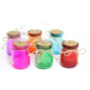 Alpine Glass Jar Light Decor; Multicolor