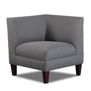 Carolina Accents Briley Corner Chair; Gray