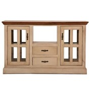 Eagle Furniture Manufacturing West Winds Kitchen Island w/ Solid Wood Plank Work Top; Bright White