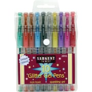 Sargent Art Glitter Gel Pen, Assorted Colors, 6 Count of 10 Pack of Pens Per Order (SAR221501)
