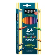 Charles Leonard Triangle Colored Pencils 3 Count of 24 Pack of Pencils Per Order (SAR227207)