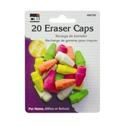 Charles Leonard Neon Wedge Shaped Cap Erasers, 12 Count of 20 Per Pack Per Order (CHL80799)