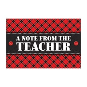 "Teacher Created Resources Plaid Note From The Teacher Postcards, 4""x6"" 30 Per Pack (TCR5666)"