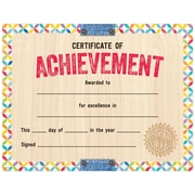 "Creative Teaching Press Upcycle Style Certificate of Achievement Large Awards 8-1/2""x11"", Pack of 50 (TCR2536)"