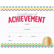 "Creative Teaching Press Chevron Certificate of Achievement Large Awards 8-1/2""x11"", Pack of 50 (TCR2536)"
