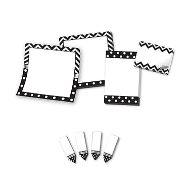 Teacher Created Resources Black & White Sticky Notes