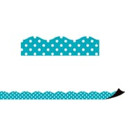 Teacher Created Resources Teal Polka Dots Magnetic Border (TCR77257)