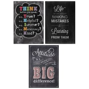 "Creative Teaching Press 19 x 13"" Think Positive Poster Pack Chalk It Up! (CTP7486)"