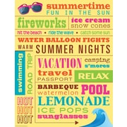 "Teacher Created Resources 22 x 17"" Summer Subway Art Chart (TCR7537)"
