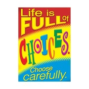 """Argus® 19 x 13"""" Life Choose Carefully. Poster (T-A67062)"""
