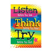 "Argus® 19 x 13"" Listen Before you Talk Poster (T-A67058)"