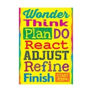 "Argus® 19 x 13"" Wonder Think Plan Do React Poster (T-A67055)"