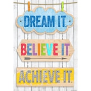 "Creative Teaching Press 19 x 13"" Dream it. Believe it. Achieve it. Inspire U Poster (CTP7286)"