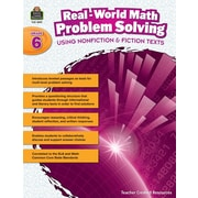 Teacher Created Resources Paperback, Real-World Math Problem Solving Grade 6(TCR8391)