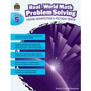 Teacher Created Resources Paperback, Real-World Math Problem Solving Grade 5(TCR8390)