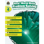 Teacher Created Resources Paperback, Real-World Math Problem Solving Grade 4(TCR8389)