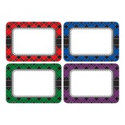 Teacher Created Resources, Plaid Name Tags/Labels Multi-Pack, Pack of 36 (TCR5665)