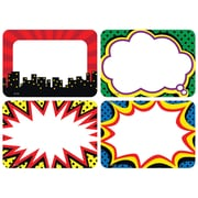 Teacher Created Resources, Superhero Name Tags/Labels Multi-Pack, Pack of 36 (TCR5587)