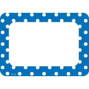 Teacher Created Resources, Blue Polka Name Tags/Labels Multi-Pack, Pack of 36 (TCR5585)