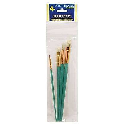 Sargent Art Plastic Handles Green Ages 5+, 12 packs each pack contains 4 (SAR566015) 2323582