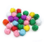 Pacon Glitter Poms Ages 4+, 40 Poms Per Pack (PACAC81533)