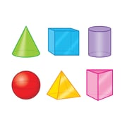 "Trend  51/2 "" - 6""  3-D Shapes, Assorted Colors (T-10636)"