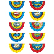 """Teacher Created Resources 6""""  Superhero Bunting, Assorted Colors (TCR5824)"""