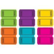 "Teacher Created Resources 3.5 x 2.75"" Bright Color Tickets, Assorted Colors (TCR5794)"